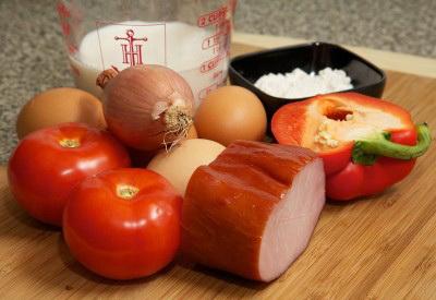 Французский завтрак или как приготовить омлет с ветчиной