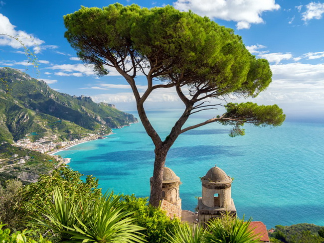 Самые романтические места Европы для отпуска. Амальфитанское побережье, Италия