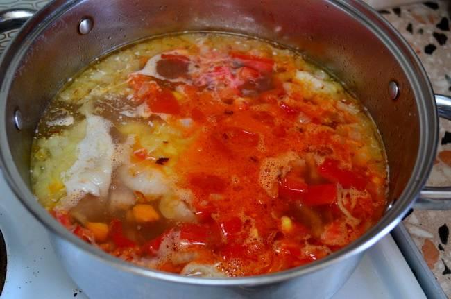 Отправьте зажарку в суп