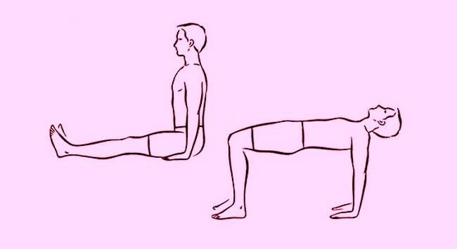 Упражнение «Пять тибетцев» №4