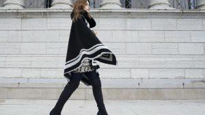 Удобные пончо, как элемент моды и стиля