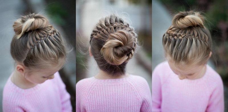 Красивая детская прическа на длинные волосы для юной леди