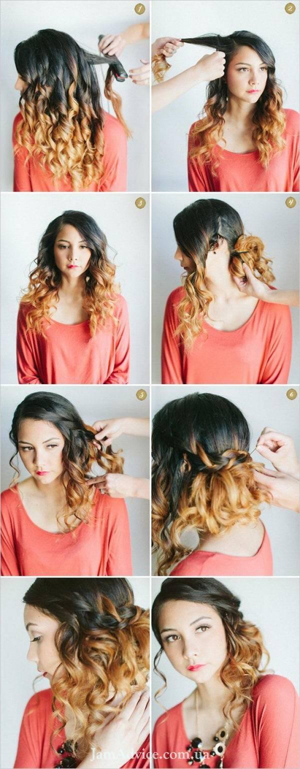 Прически на длинные волосы: Коса-водопад