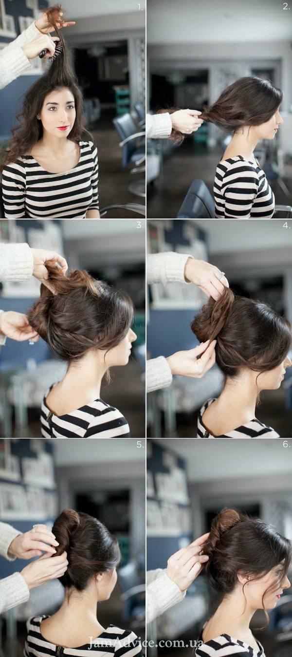 Прически на длинные волосы: Классический французский твист