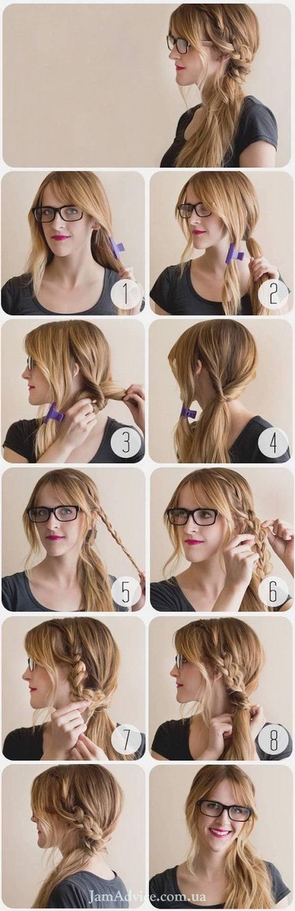 Прически на длинные волосы: Плетеный хвост