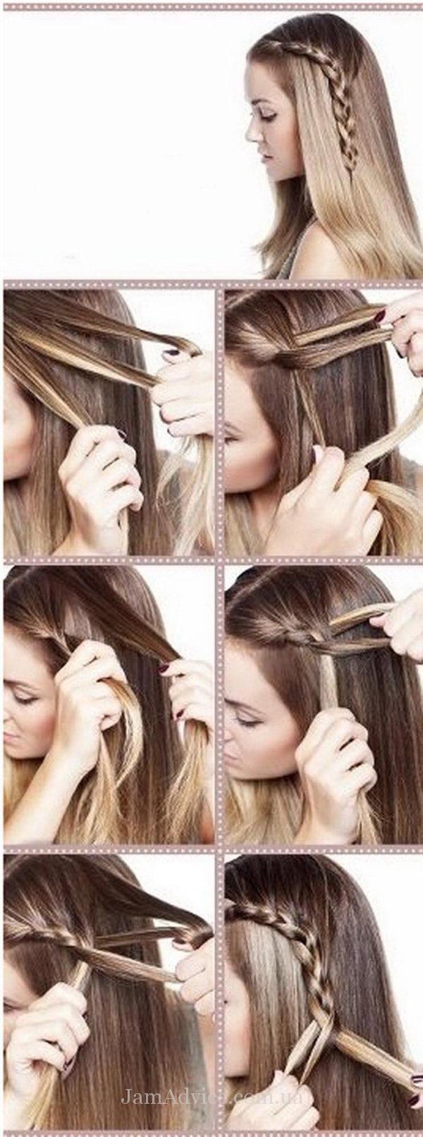 Прически на длинные волосы: Коса-акцент