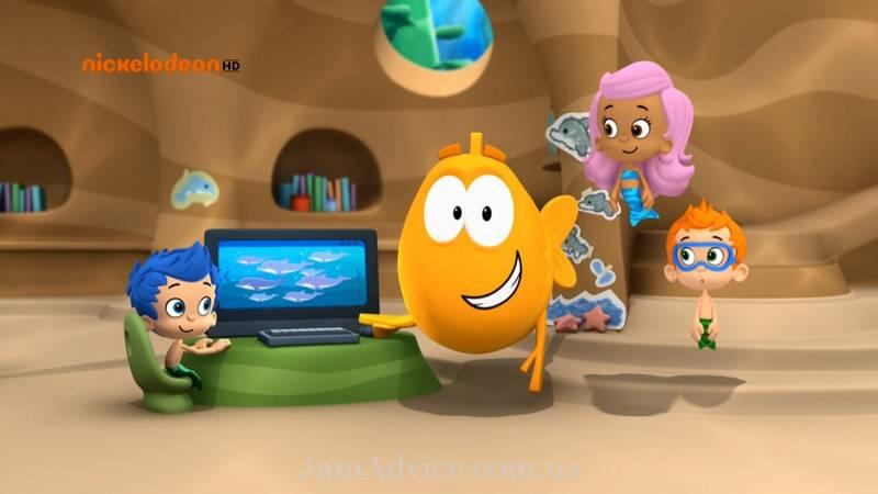 Веселый развивающий мультик для детей 3 лет: «Гуппи и пузырики»