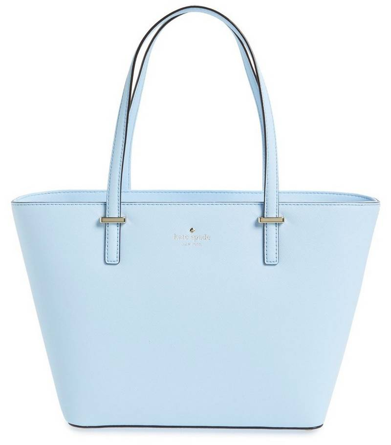 Kate Spade New York Cedar Street Mini Harmony Tote in Sky Blue, $228