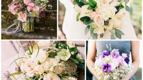 17 весенних идей для романтичных букетов невесты