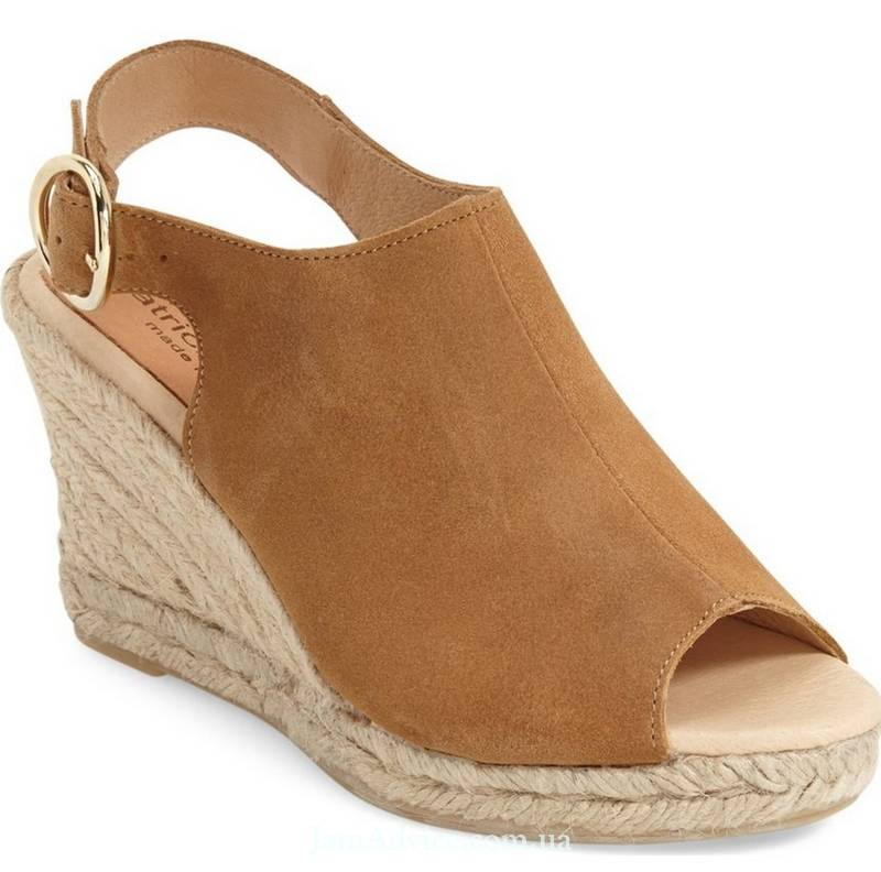 Patricia Green Belle Espadrille Wedge Sandal in Camel, 145$