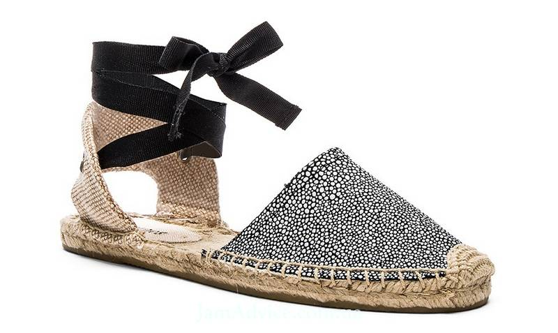 Soludos Classic Sandal Textured Leather, $89