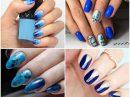 Синий маникюр: 160 лучших идей дизайна ногтей