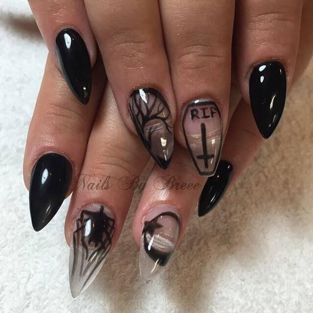 Ужастики на ногтях