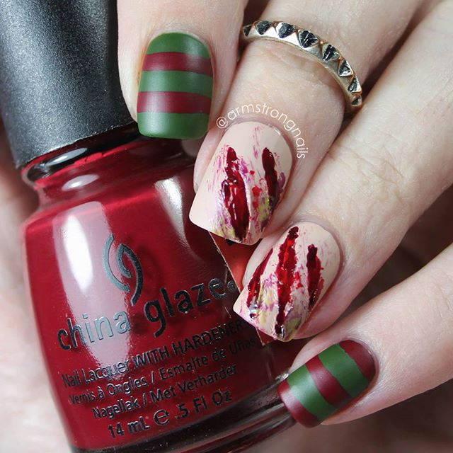 Капли крови на ногтях