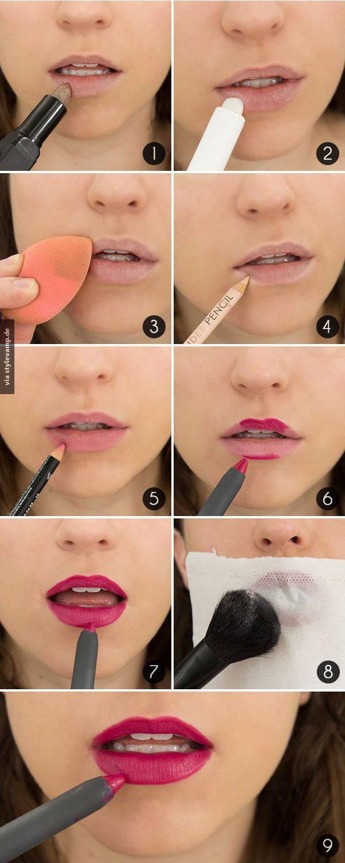 Макияж губ: Как достичь эффекта стойкости губной помады