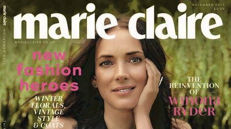 Вайнона Райдер в журнале Marie Claire (Ноябрь 2017)