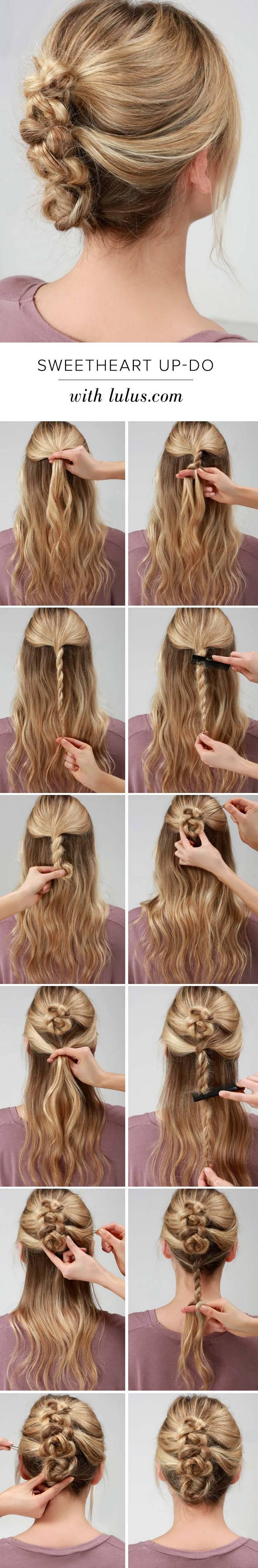 Красивые прически на средние волосы: Апдо