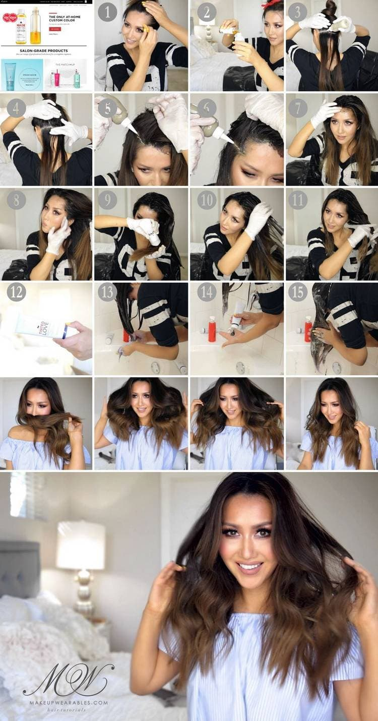 Омбре волосы самостоятельно