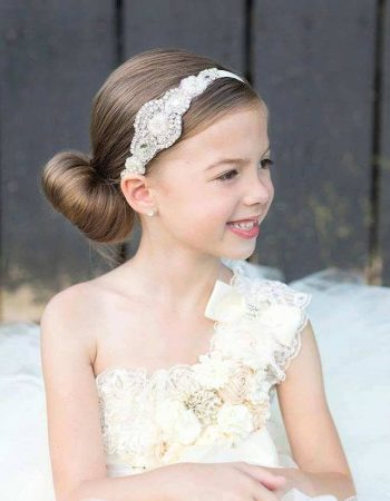 flower girl hairstyles with headband Amazing Flower Girl Headband Rhinestone Headband Bridal Headband