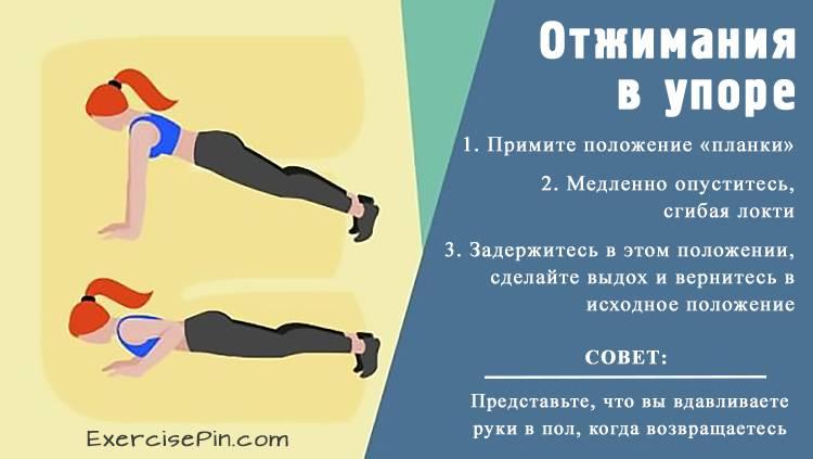 Как похудеть с помощью отжиманий в упоре. Упражнение для рук