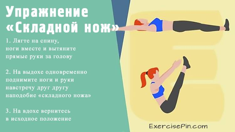 Упражнение для спины «Складной нож». Упражнение для спины