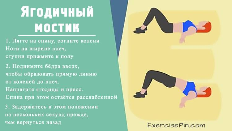 Лучшее упражнение для ягодиц – ягодичный мостик. Упражнение для ног