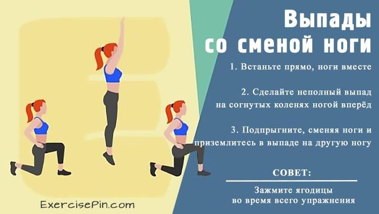 Полезное упражнение для ног – «Выпады со сменой ноги». Упражнение для ног