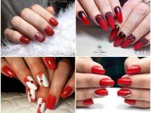 Красный маникюр 2019: Фото, тренды, идеи дизайна ногтей