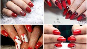 Красный маникюр 2020-2021: Фото, тренды, идеи дизайна ногтей