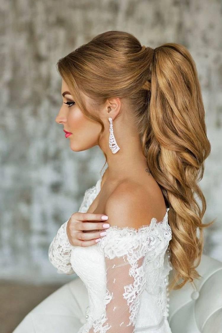 Свадебная прическа: Конский хвост