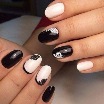 JamAdvice_com_ua_black_and_white_manicure_for_short_nails_3