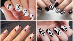 Черно-белый маникюр: Оригинальные идеи дизайна ногтей