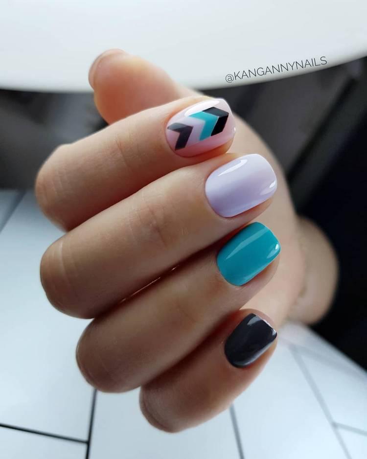 Красивый маникюр на короткие ногти гель лаком