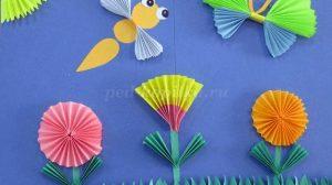 Делаем объемные аппликации с ребенком из цветной бумаги и картона