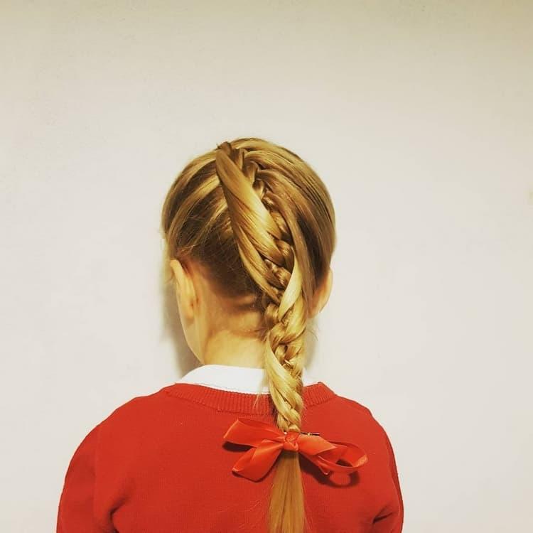 Прически в школу с косами