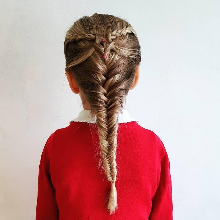 Школьные прически с косами