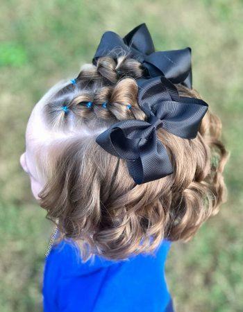 Детские прически на вьющиеся волосы