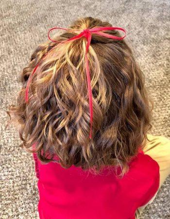 Детские прически на короткие вьющиеся волосы
