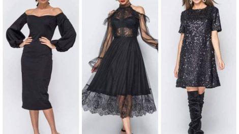 Новогодний Total Black look – стильная роскошь