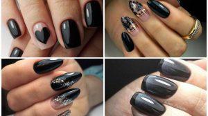 Черный маникюр 2020: ТОП 100 фото лучшего дизайна ногтей