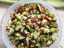 Полезный салат из брокколи и цветной капусты