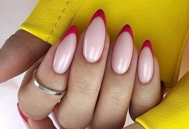 Модный дизайн ногтей френч 2020-2021