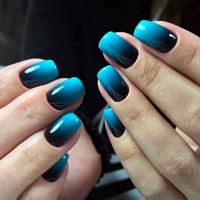Модный омбре дизайн ногтей