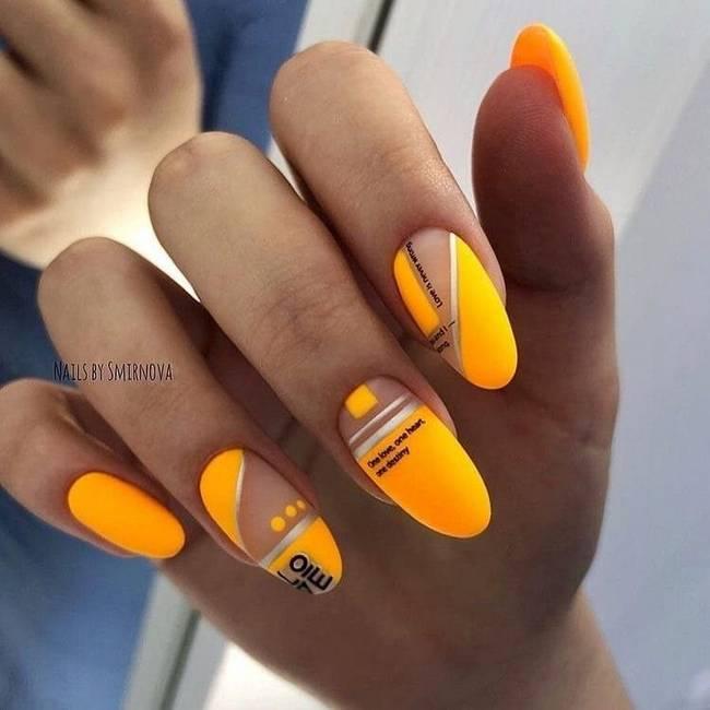 Желтые ногти 2020-2021