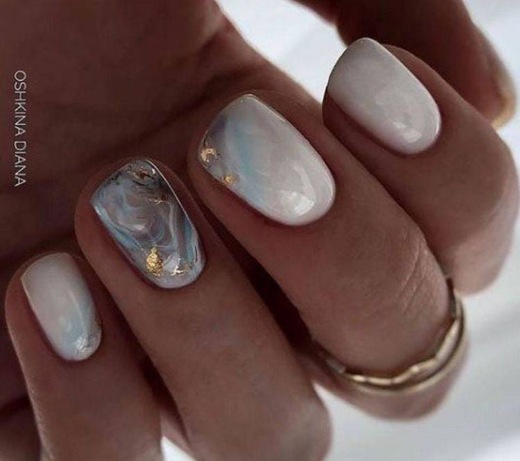Маникюр белый на короткие ногти