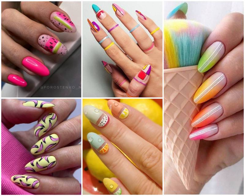 24 идеи маникюра на лето: Яркие рисунки на ногтях
