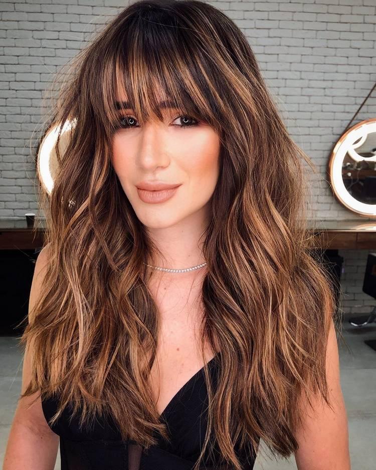 Чёлка на длинные волосы
