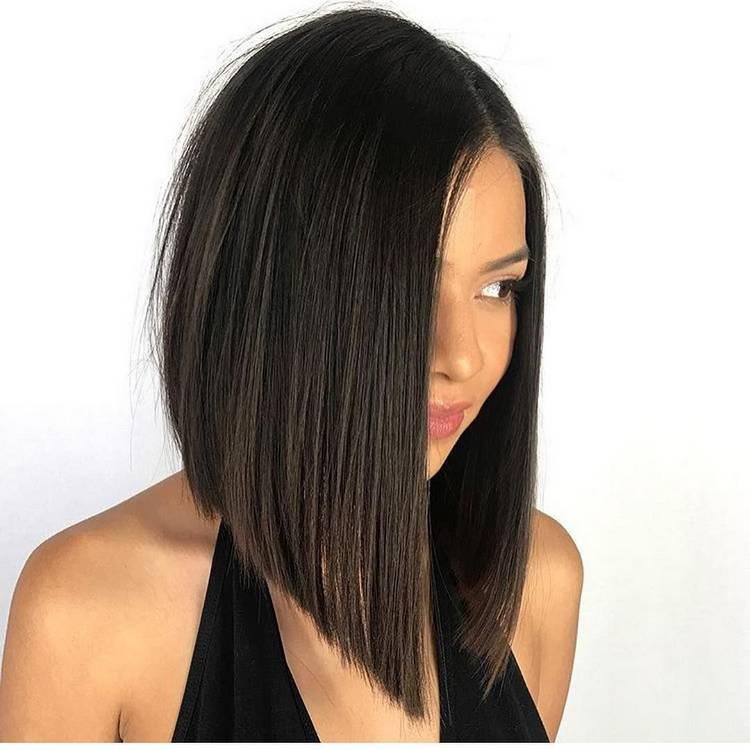 Прически каре на длинные волосы 2021