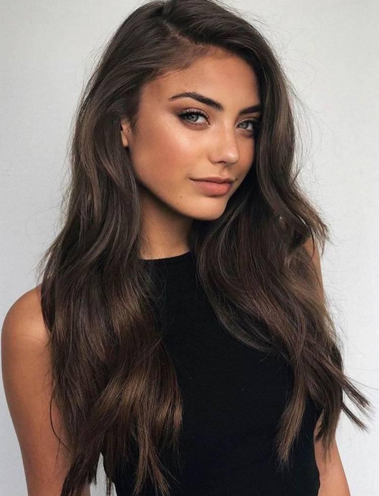 Прически на густые длинные волосы
