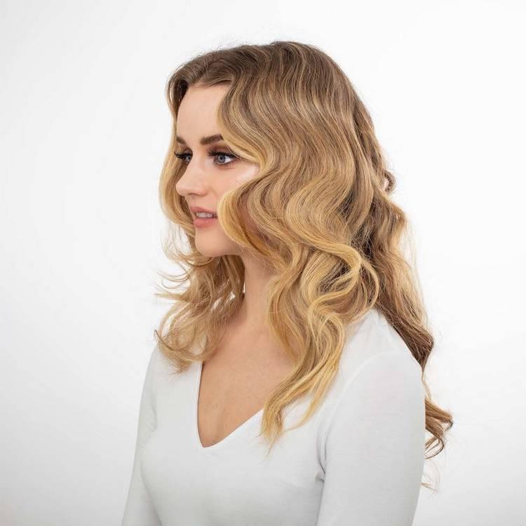 Прически на длинные волосы Блонд